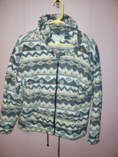 Emerald Isle Southwestern Aztec Western Fleece Jacket Women's Size ...