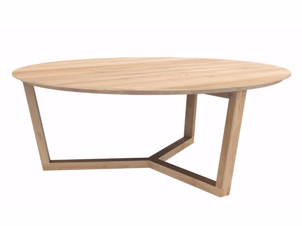 Tripod Coffee Table Oak In 2020 Oak Coffee Table Round Wooden