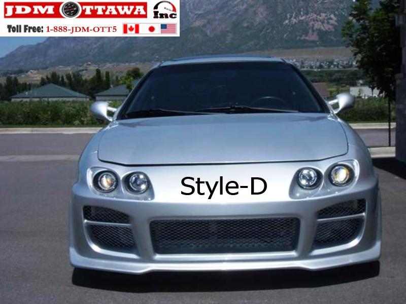 Acura Integra GSR LS Type R Extreme Front BumperRear Bumper - Acura integra type r side skirts