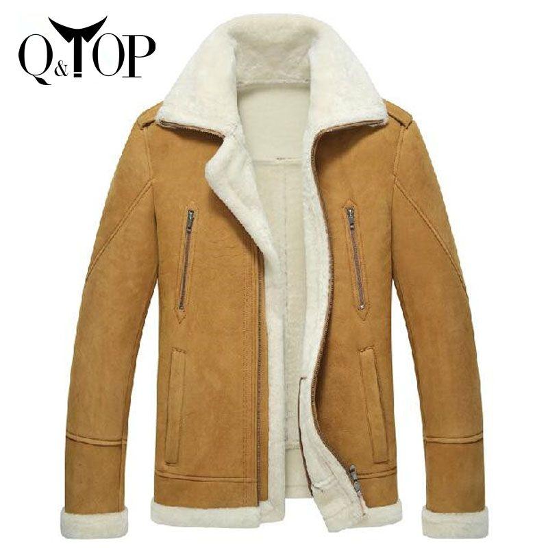 44b6783d43173 Iş ouitdoors kürk 2015 kalınlaştırmak erkekler doğal koyun hakiki deri  ceket yüksek- son yün astar l-4xl ücretsiz nakliye(China (Mainland))