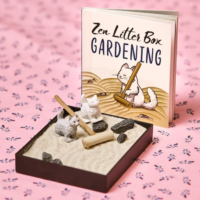 Zen Garden Mini Litter Box #dishtowels
