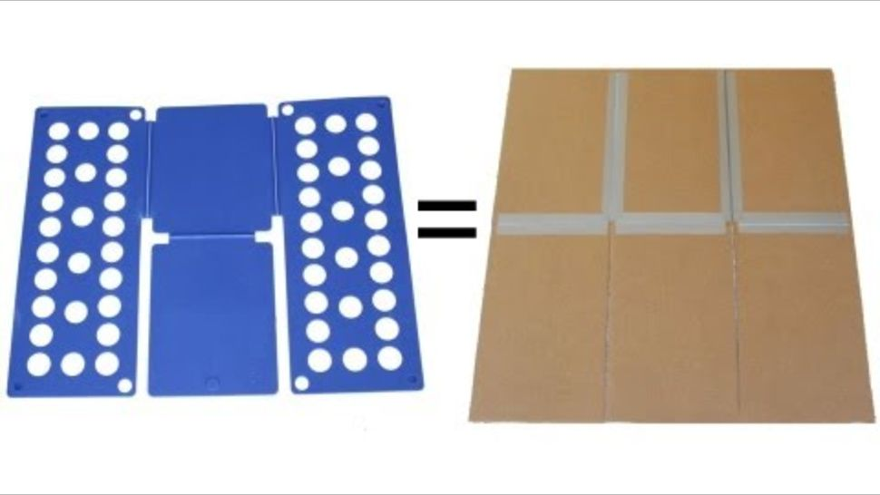 Build Your Own T Shirt Folding Board With Cardboard And Duct Tape