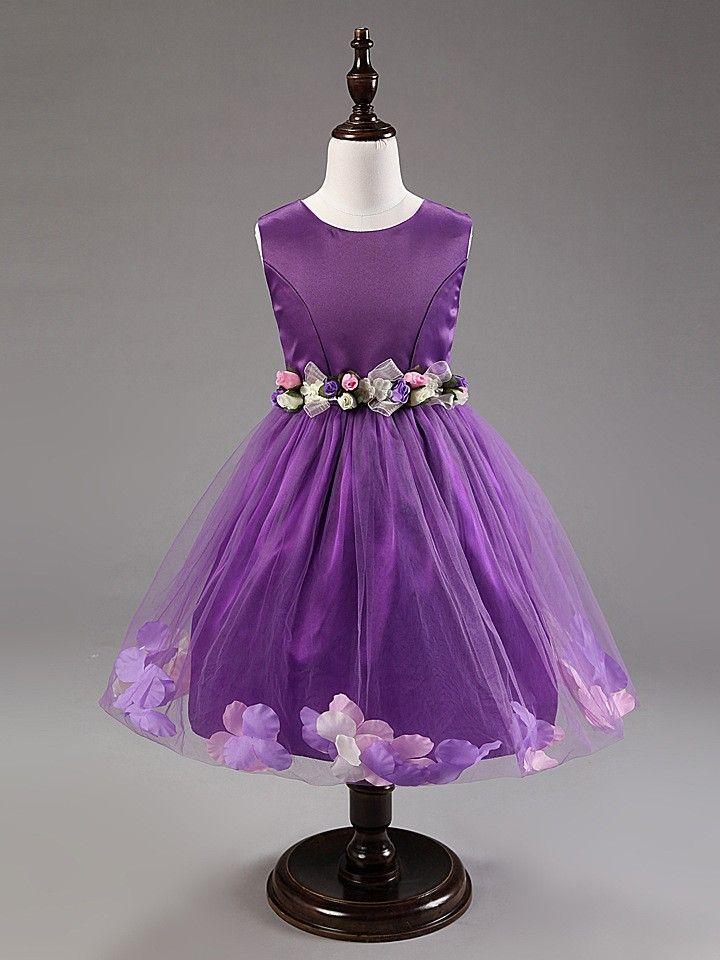 Flowers girl dress ball gown prom dresses | Elegant girl dress for ...