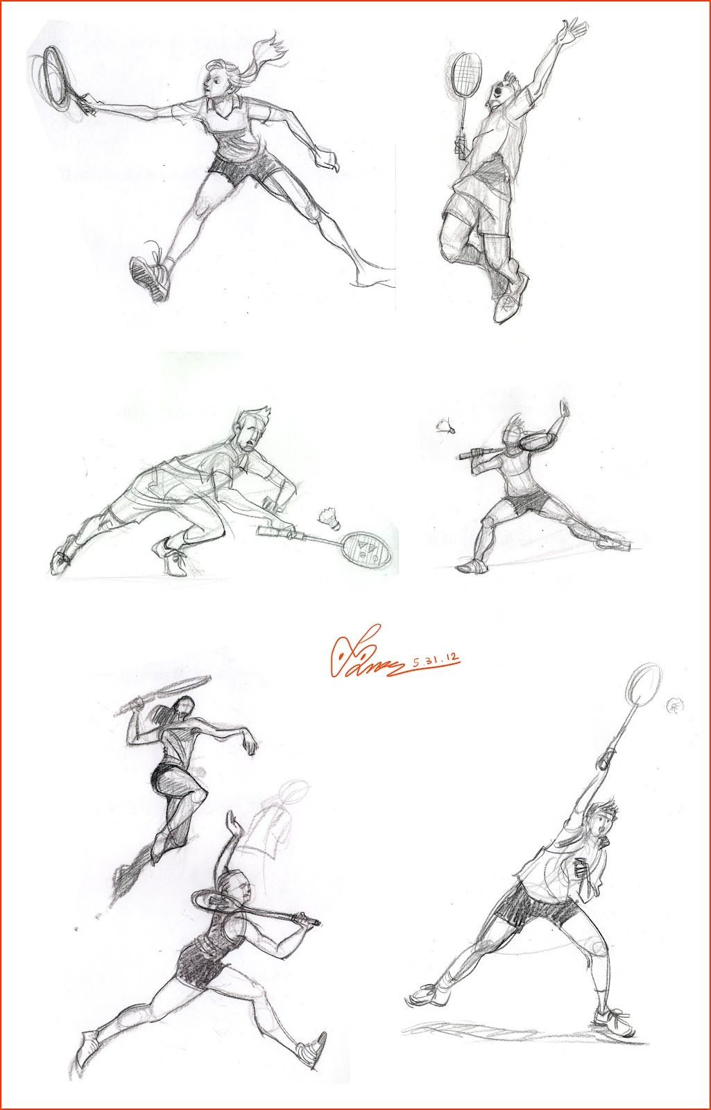 how to draw a badminton birdie
