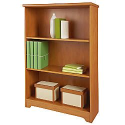 Realspace Magellan Collection 3 Shelf Bookcase Honey Maple By