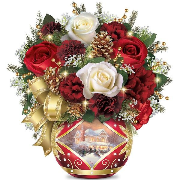 Thomas Kinkade Christmas Floral Arrangement 2020 Top 10 Thomas Kinkade Christmas Decorations 2020   Floral