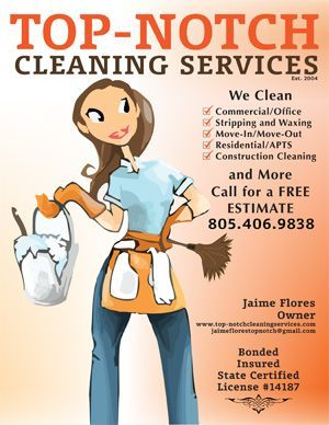 top notch cleaning services business flyer design
