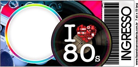 Años 80 Invitaciones Para Imprimir Gratis Invitaciones
