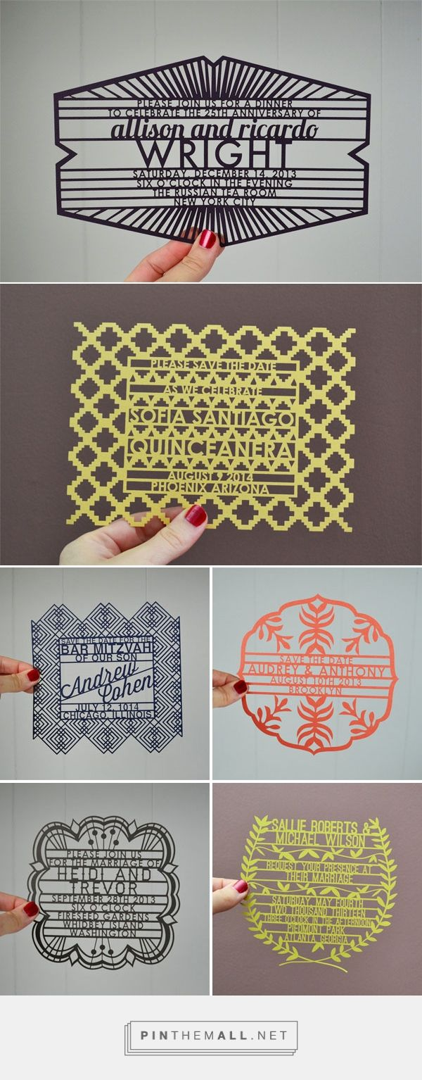 Laser Cut Invitations + Save the Dates from Avie - Invitation Crush - created via http://pinthemall.net
