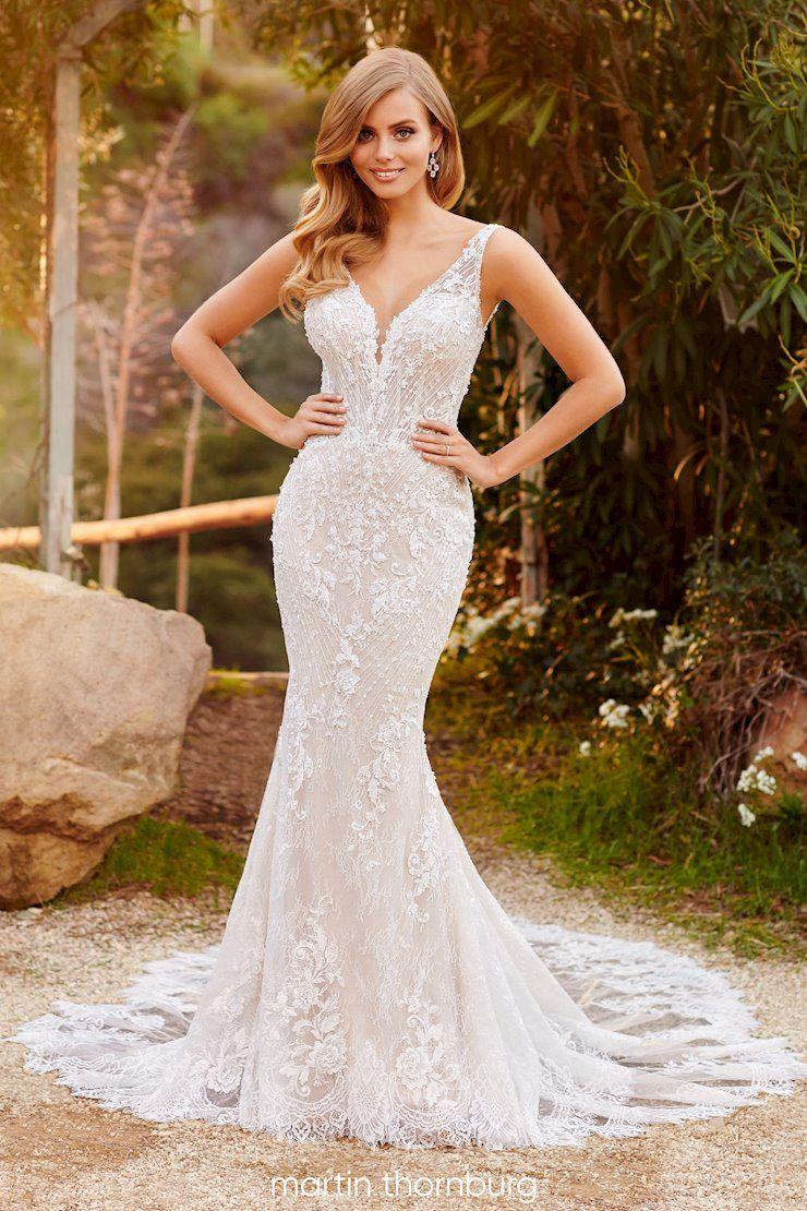 Martin Thornburg Style 220268 Fitted Wedding Dress Fit And Flare Wedding Dress Slim Fit Wedding Dresses [ 1110 x 740 Pixel ]