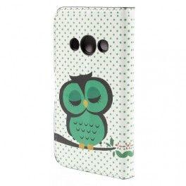 Galaxy Xcover 3 vihreä pöllö puhelinlompakko.