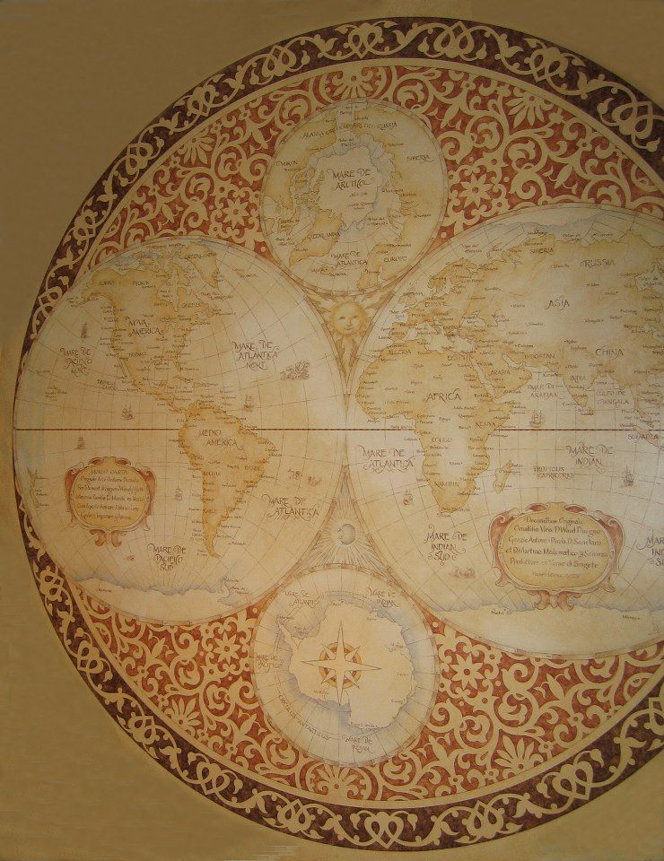 antique map design | Maps and Charts in 2019 | Map compass, Map, Map
