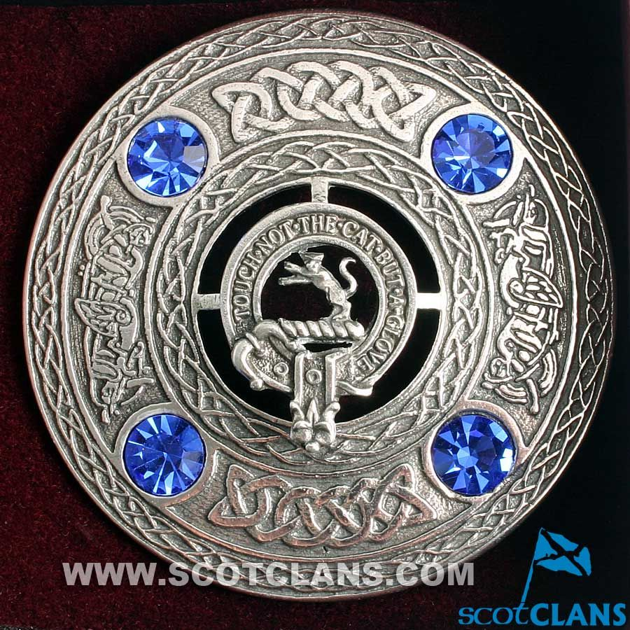 Lennox Clan Scottish Highlanders Plaid Brooch