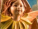 Marigold Fairy Figurine - sweet little face