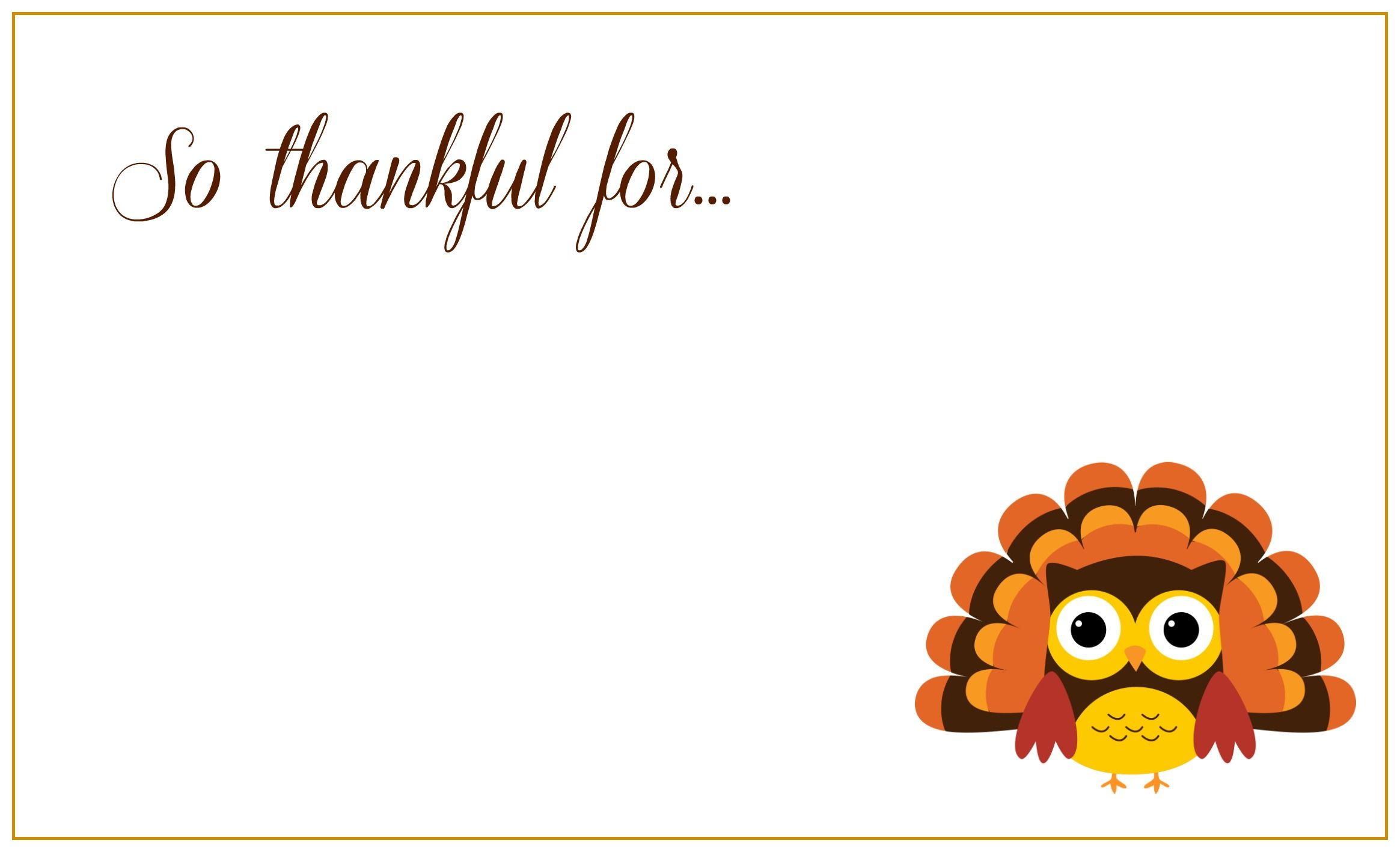 Pin By Mike Dev On Owl Art Thanksgiving Place Cards Thanksgiving Printables Cute Thank You Cards