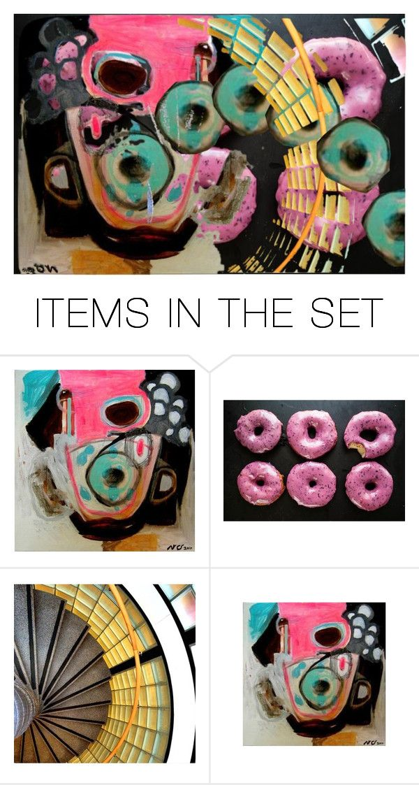"""Just Another Donut"" by kathy-martenson-sanko ❤ liked on Polyvore featuring art"