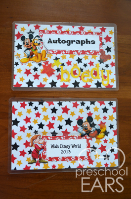 Diy disney autograph photo book