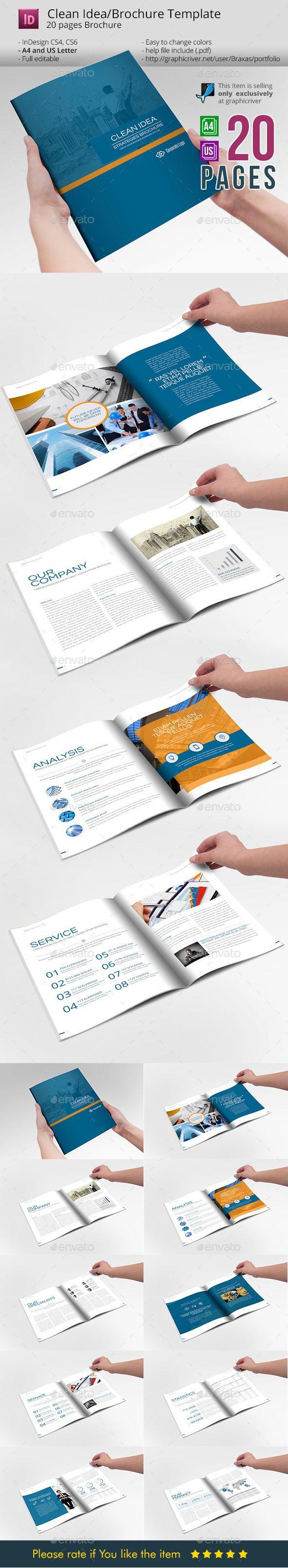 Clean Idea _ InDesign Busines Brochure Template