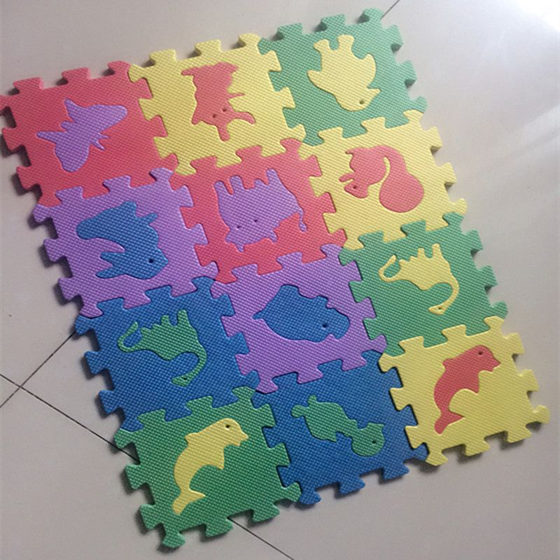 10pcs 12cm 12cm Environmentally Eva Foam Puzzle Animal Play Mat