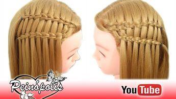 Trenza Cascada Doble Para Fiestas Niñas Escuela Peinados Faciles Y Rapidos Trenzas En Cascada Bonitos Suscríbete Despliégam Hair Styles Hair Beauty
