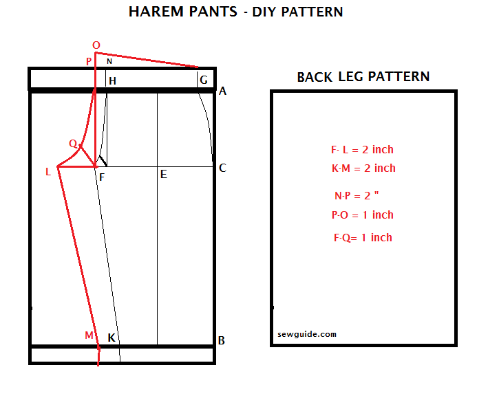How to cut and sew harm pants | relaxed style | Pinterest