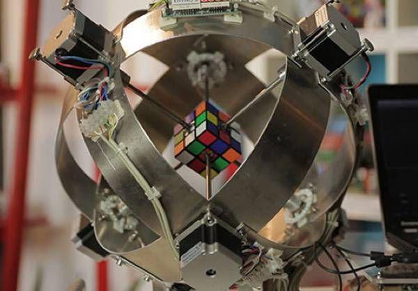 Il robot più veloce del mondo a risolvere il cubo di Rubik (fonte: Guinnes World Records)