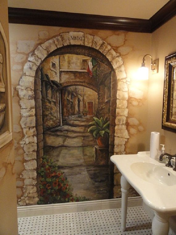 Living Room Wall Murals: Wall Murals Painted, Mural, Faux