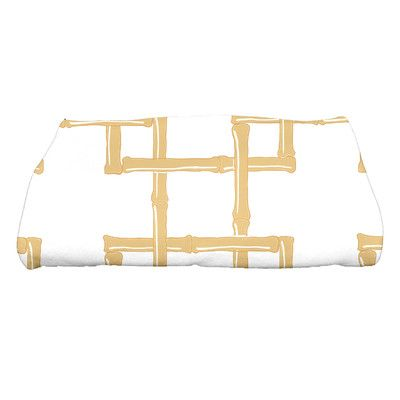 Bay Isle Home Sigsbee Bamboo 2 Geometric Print Bath Towel Color: Gold