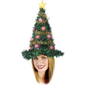 Christmas Tree Light Up Hat Tinsel Christmas Tree Christmas Tree Hat Christmas Tree Light Up