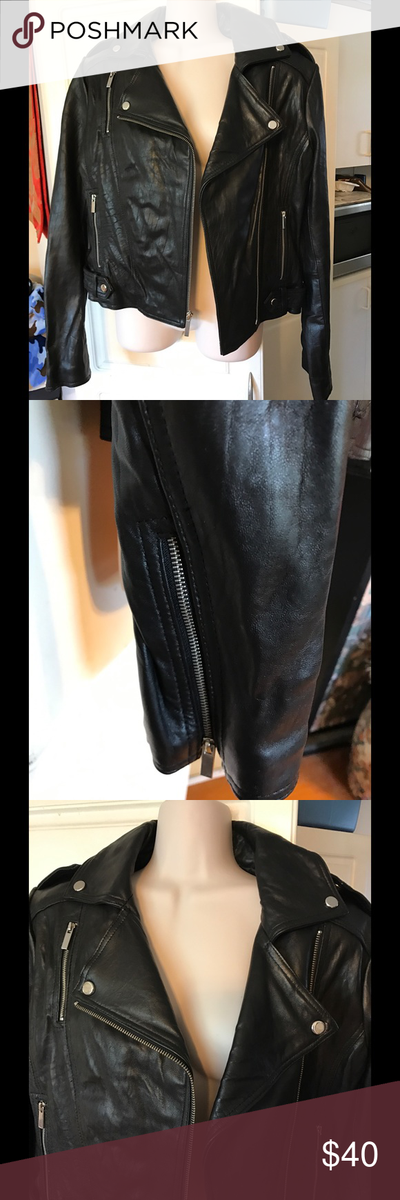 🎀🍒💕VICTORIAS SECRET Leather Jacket🎀🍒💕 🎀🍒💕 victoria's Secret MODA International women's leather jacket. 🍒Size medium. 💕Purchased, but never did get to use it! 🍒Bust 20 inches armpit to armpit, 21 inches long, sleeve length 25.25 inch with zipper. ❤️Silver zipper and hardware. 🍒Purchased through Victoria's Secret. Retail is $298.💰💸🎈 Victoria's Secret Jackets & Coats