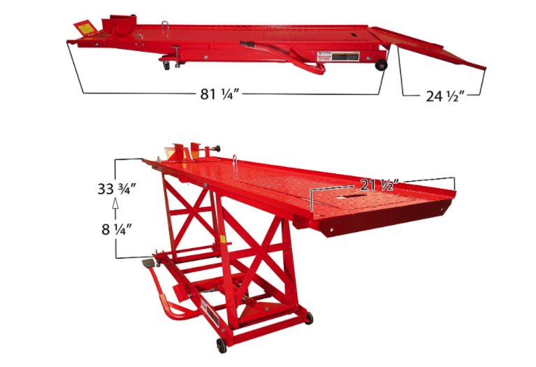 Titan Ramps 1 000 Lb Hydraulic Motorcycle Lift Table Extra Long Heavy Duty Motorcycle Lift Table Hydraulic Systems Lift Table