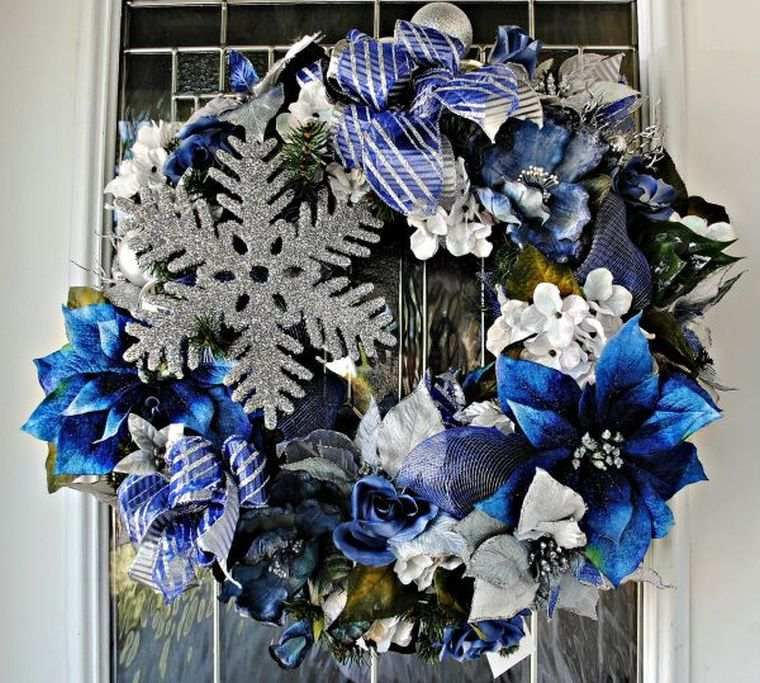 White and blue fir for a holiday of Christmas in spirit of winter