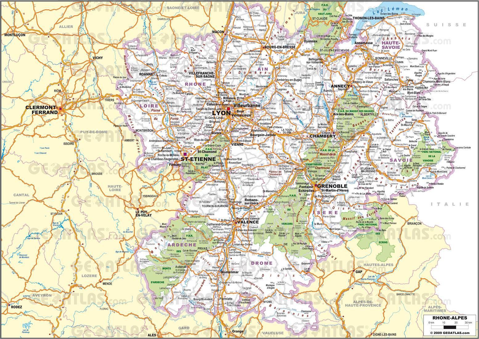Resultat De Recherche D Images Pour Carte Routiere Rhone Alpes Imprime
