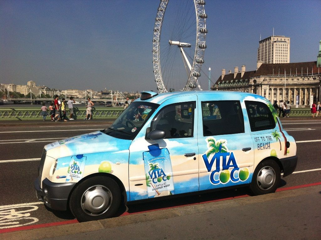 Vita Coco Covers Taxis in London http://www.bevnet.com/news/2013/vita-coco-covers-taxis-in-london