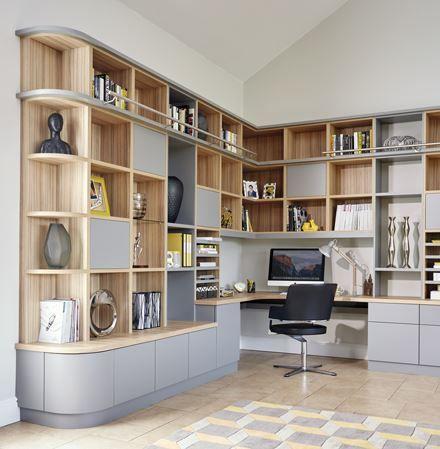 Grey Modern Library Study Neville Johnson Deco Maison Idees De Decoration Interieure Idee Deco Maison