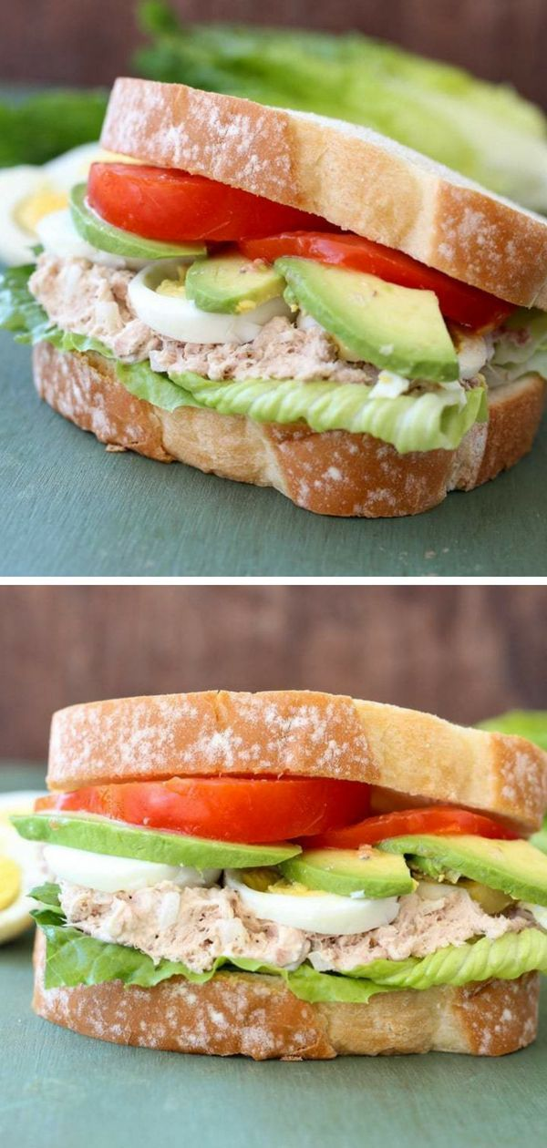 Egg Avocado Tuna Sandwich ~ Easy, Delicious Sandwich Perfect for a Quick Lunch R images