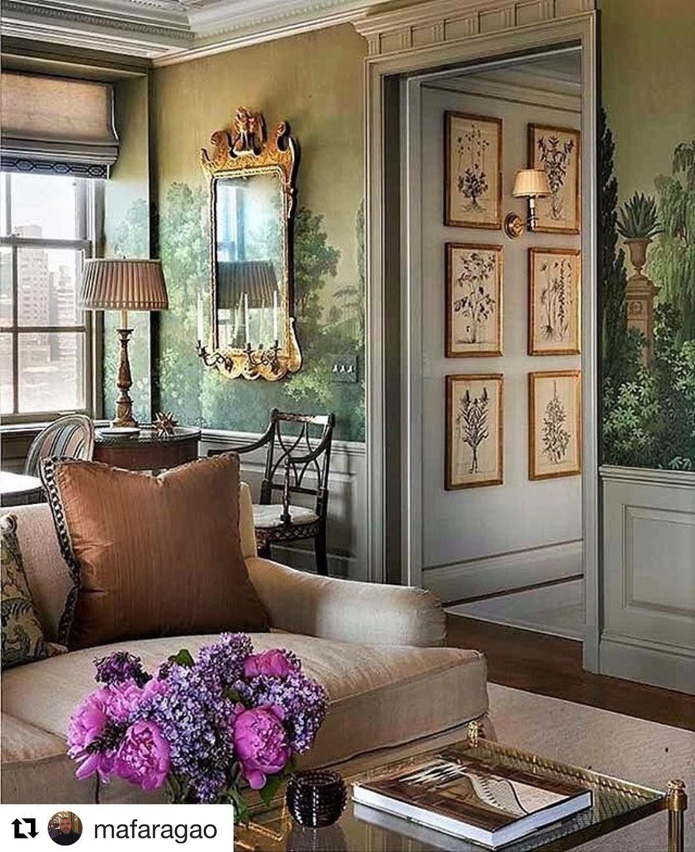 Charmant Elegance#repost#interiordesign#interior#antiques#wallpaper#fabrics#furniture  | Living Rooms | Pinterest | Antique Wallpaper, Interiors And Zoffany Paint