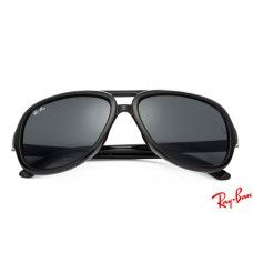 Ray Ban RB4162 Cats 5000 sunglasses with black frame and black lenses 08f4ab245ce2