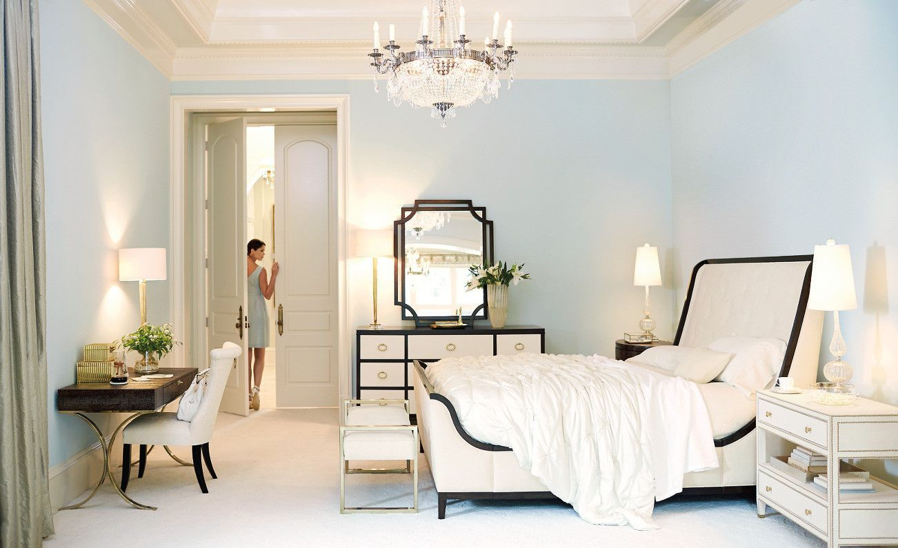 Outstanding Jet Set Upholstered King Bed Bernhardt Furniture Interior Design Ideas Clesiryabchikinfo