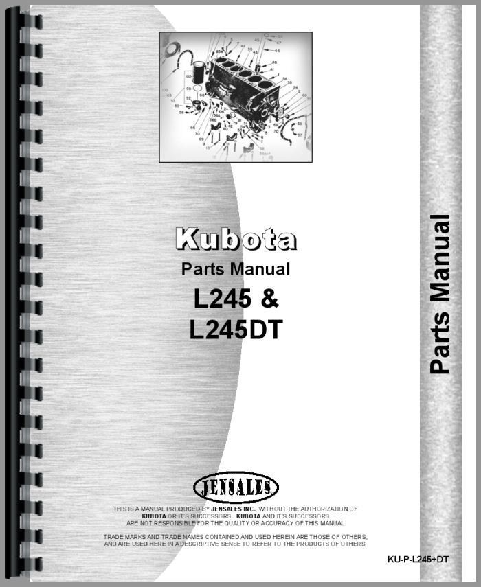 Kubota L245 Tractor Parts Manual Kubota Pinterest Tractors