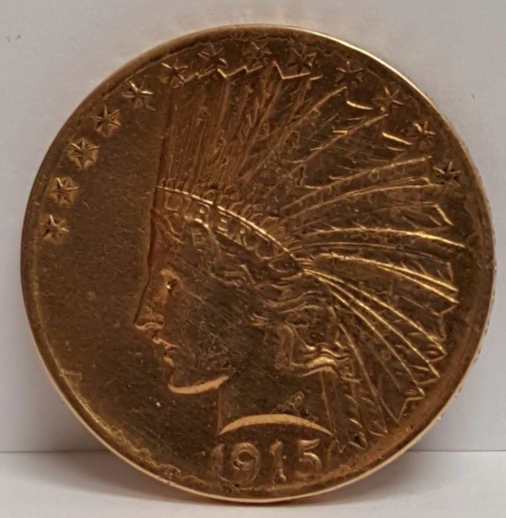 1915 $10 Gold Indian Extremely Fine