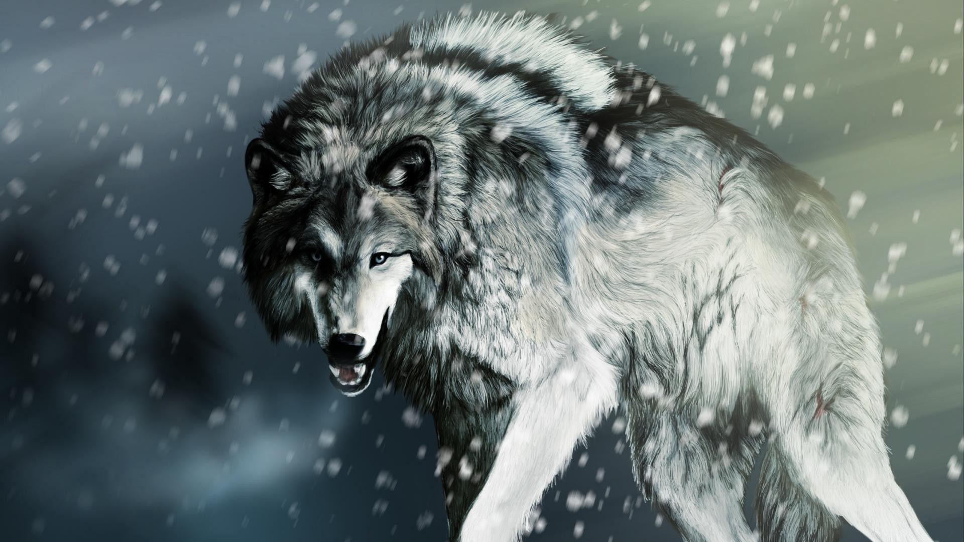 Elegant Wolf Wallpaper Hd 4k Di 2020 Dengan Gambar