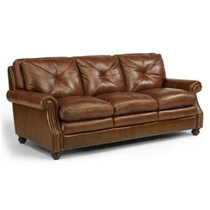 Flexsteel Suffolk Leather Stationary Sofa 1741 31 Flexsteel Furniture Mattress Furniture Living Room Leather