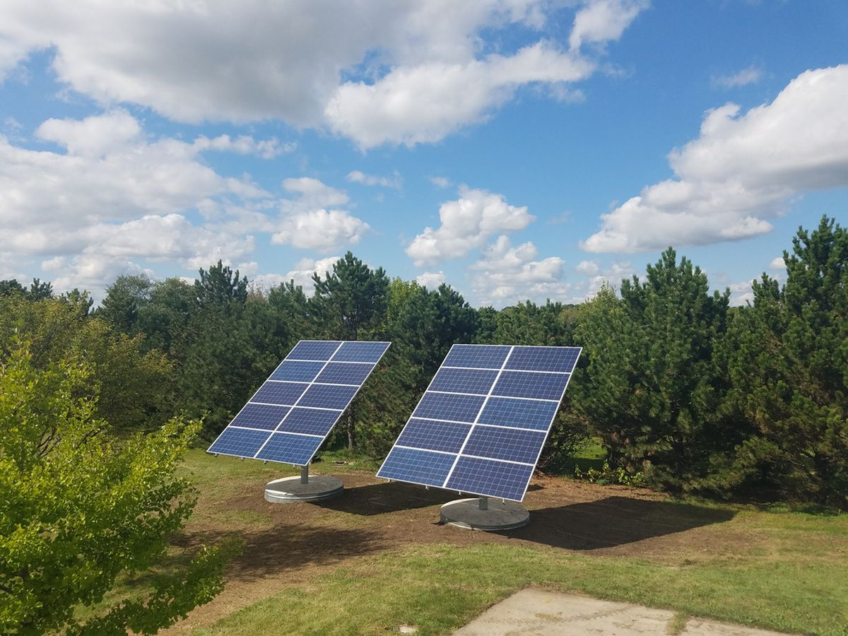 Diy Solar Panel Mount 6 4kw All Sky Energy Llc Solar Pv Ground Mount Tracker