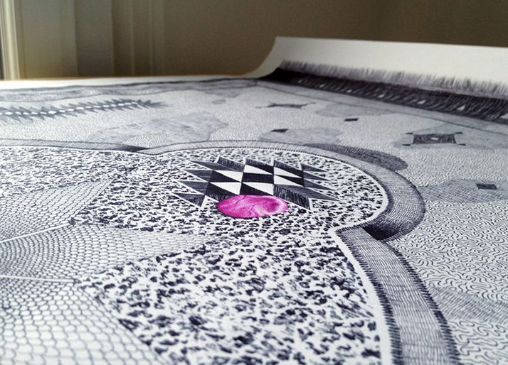 Unbelievable Carpet Drawings With Ballpoint Pens by Jonathan Bréchignac,  Unbelievable Carpet Drawings With Ballpoint Pens by Jonathan Bréchignac,
