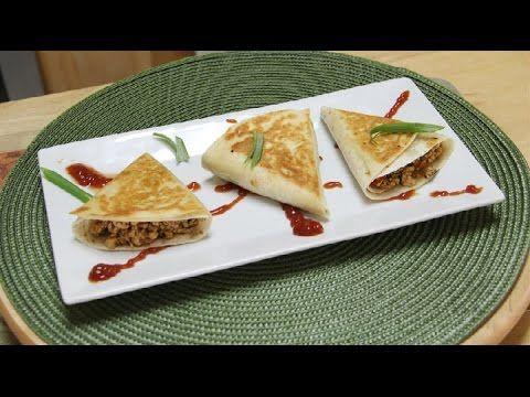 ▷ Chilli Paneer Triangles Recipe Video   Lunch Box Ideas