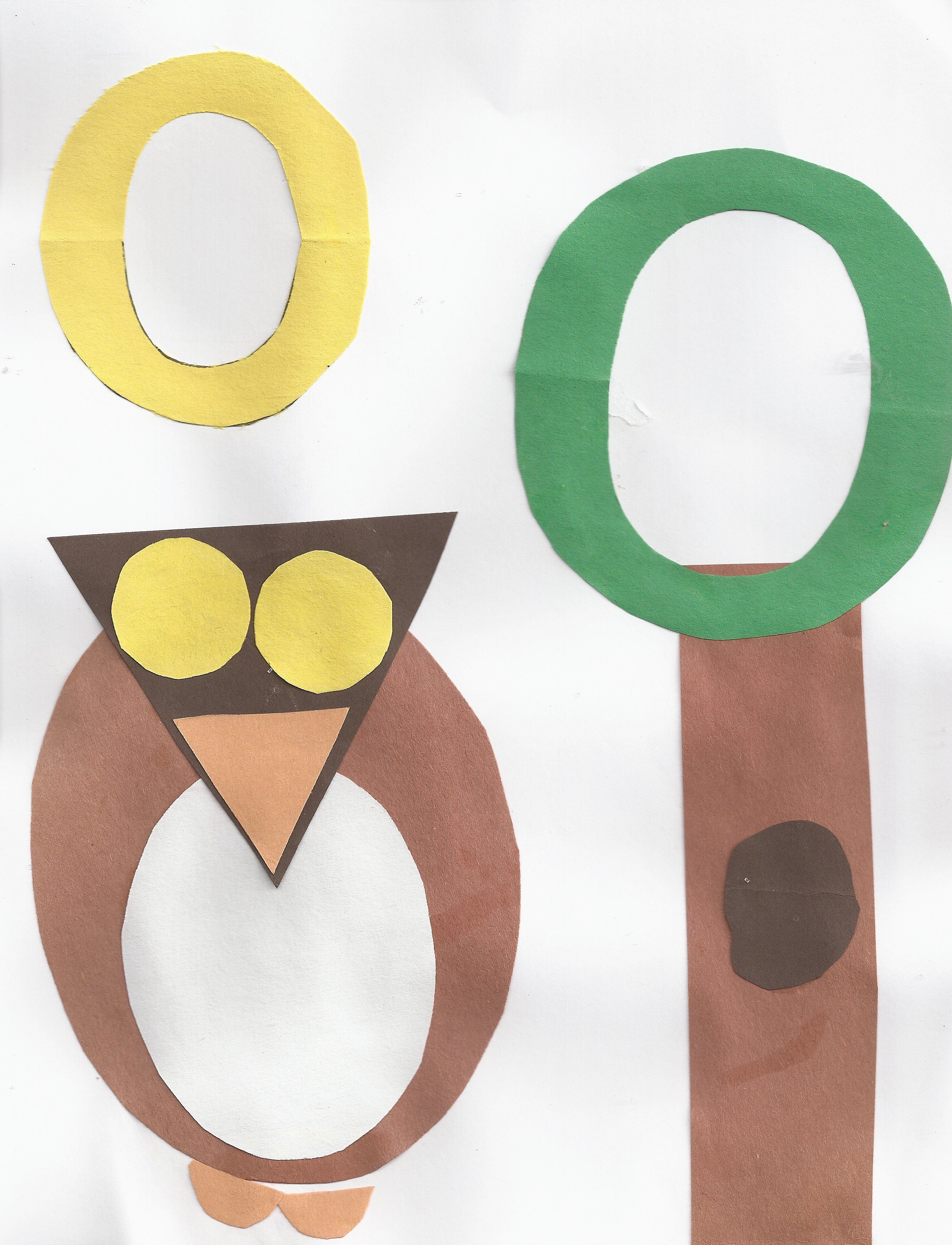 Owl Shapes Ovals Letter O With Images