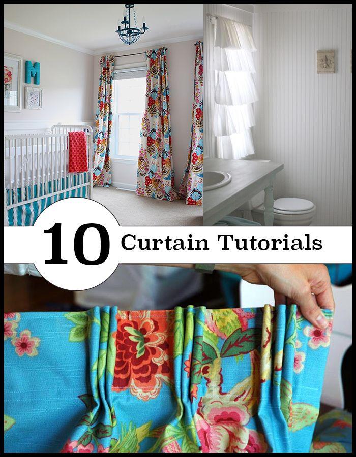 10 diferentes métodos de cortina DIY.  De sew para não-costurar
