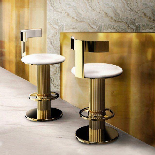 Luxury Mid Century Gold Modern Bar Stool Juliettes Interiors Modern Bar Stools Chair Design Bar Chairs