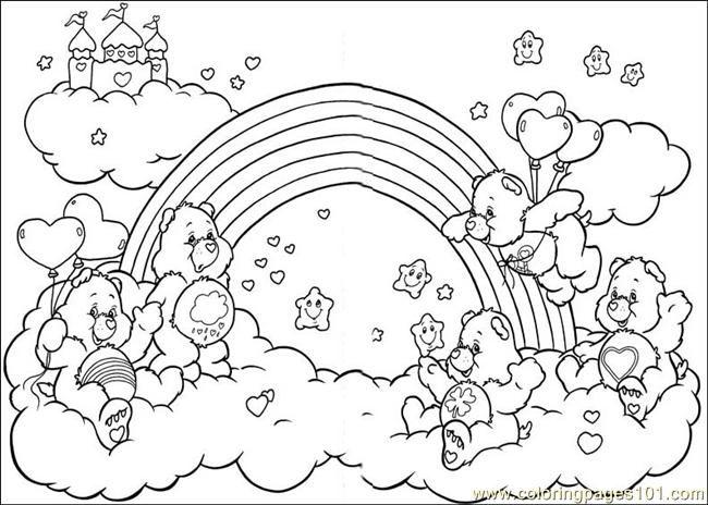 Printable Coloring Care Bears Cartoons Colorinenet 12297
